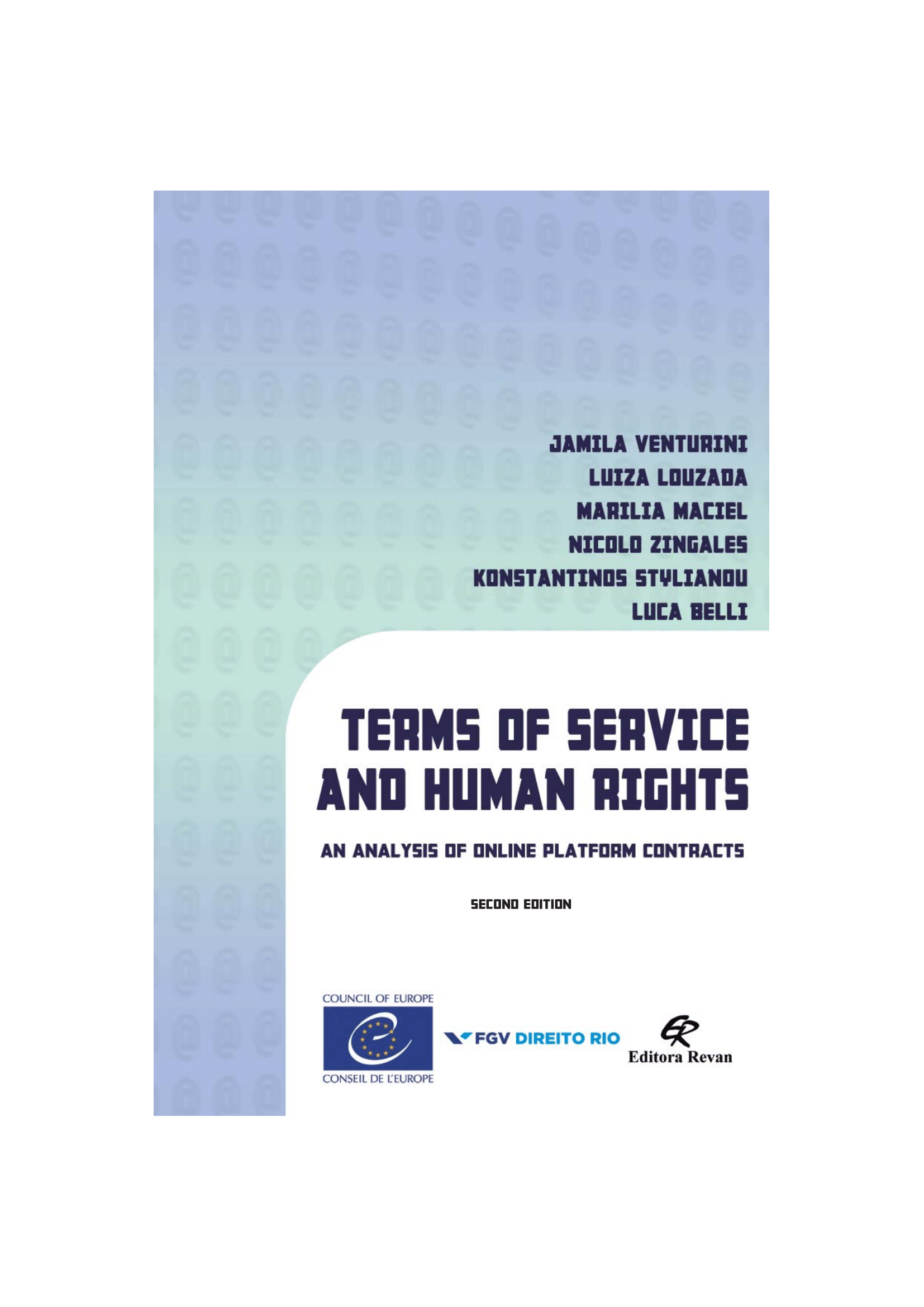 Book Terms of Service and Human Rights: an Analysis of Online Platform Contracts